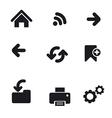 navigation icons basic vector image vector image