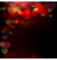 001 Blur heart on dark abstract background EPS 10 vector image