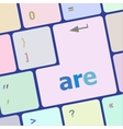 are word on computer keyboard key vector image
