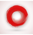 Asian Style Japanese Red Ink Circle Logo vector image
