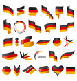 Biggest collection of flag of Germany vector image