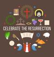 celebrate the resurrection of jesus vector image