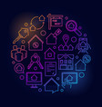 houses and flats for rent vector image