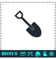 Mini Shovel icon flat vector image