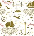 Sea voyage seamless pattern vector image