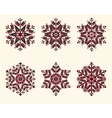 snowflakes set Elegant snowflakes for vector image