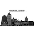 usa rochester new york architecture city vector image