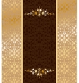 Vintage gold ornament vector image