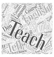 Teaching English As A Foreign Language A Life vector image