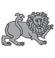 powerful heraldic lion vector image