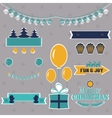Set of Christmas shapes and labels in retro style vector image vector image