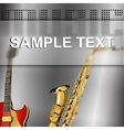 musical background with glass frame blur vector image