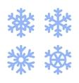 Blue Snowflake Icons Set on White Background vector image