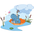 adventure of a little hippo vector image