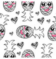 fruit hand draw of doodle style vector image