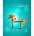 Happy holidays Chinese New Year of the Horse vector image