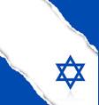 Israeli background vector image