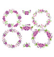 Purple Wreath Set vector image