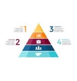 pyramid up arrows infographic diagram vector image