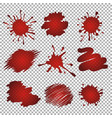 red stains and blots vector image