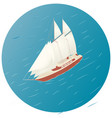 sailing ship advertisement infographics game or vector image