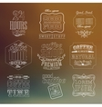 Vintage thin line bakery labels vector image