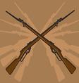 World War II Rifle with Bayonet vector image