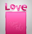 Love 3D vector image