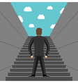 Ambitious businessman climbing steps vector image