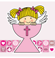Angel in the holy grail vector image
