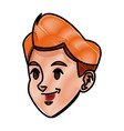 cartoon boy head sport design graphic vector image