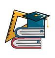 color school tools icon vector image