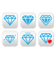 Diamond luxury buttons set vector image