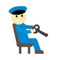 Driver man cute cartoon character vector image