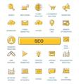 Outline web icons set - SEO vector image
