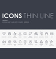 wedding thin line icons vector image
