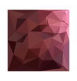 Antique Ruby Abstract Low Polygon Background vector image vector image
