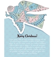 Merry Christmas card with angel colorful vector image vector image