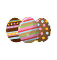 easter eggs with nice decoration design vector image