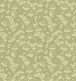 Seamless pattern of ash and twigs with leaves vector image vector image