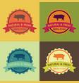 natural fresh pork food set vector image