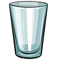 Clear glass vector image