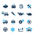 Car Service Icons Azure Series vector image