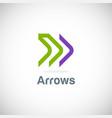 arrow line forward logo vector image