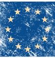 EU retro flag vector image