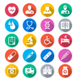 Healthcare flat color icons vector image