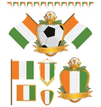 Ivory coast flags vector image