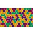 Retro hexagonal geometric background vector image