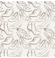 seamless pattern of various women s shoes vector image