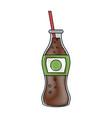 soda glass bottle vector image